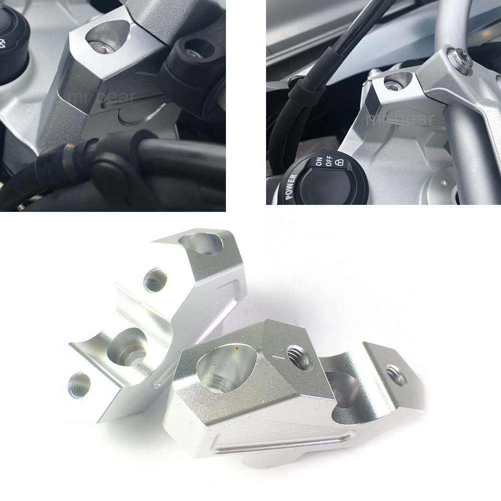 Motorcycle F750GS F750 GS 2018 2019 Handlebar Risers Clamp Height Up Also Backward Extend Adapters 22mm for BMW F 750GS Parts