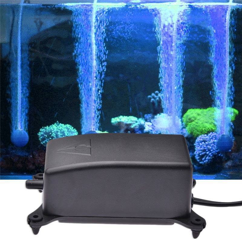 Acuario bomba de aire antideslizante tanque de peces bomba creciente 2W AC 220V bomba Ultra silenciosa ahorro de energía