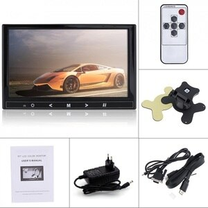 HDMI VGA CVBS BNC AV Input 4:3 8 inch TFT LCD Color Video Monitor  for PC CCTV Security and Stand Rotating Screen