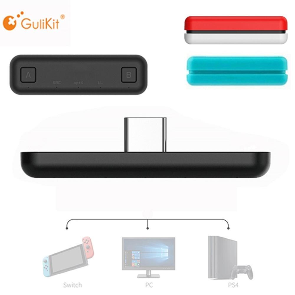 Беспроводной bluetooth-адаптер GuliKit NS07 Route Air, передатчик аудио USB-C для Nintendo Switch / Switch Lite PS4 PC Game