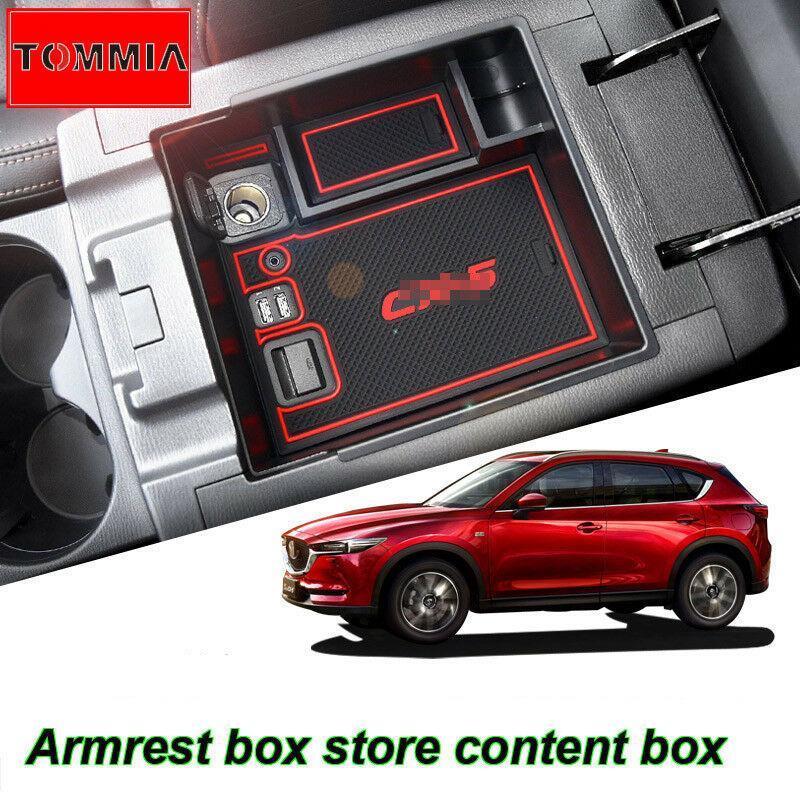 Soporte organizador de caja de almacenamiento para Reposabrazos de consola Interior de coche para Mazda CX-5 17-2018