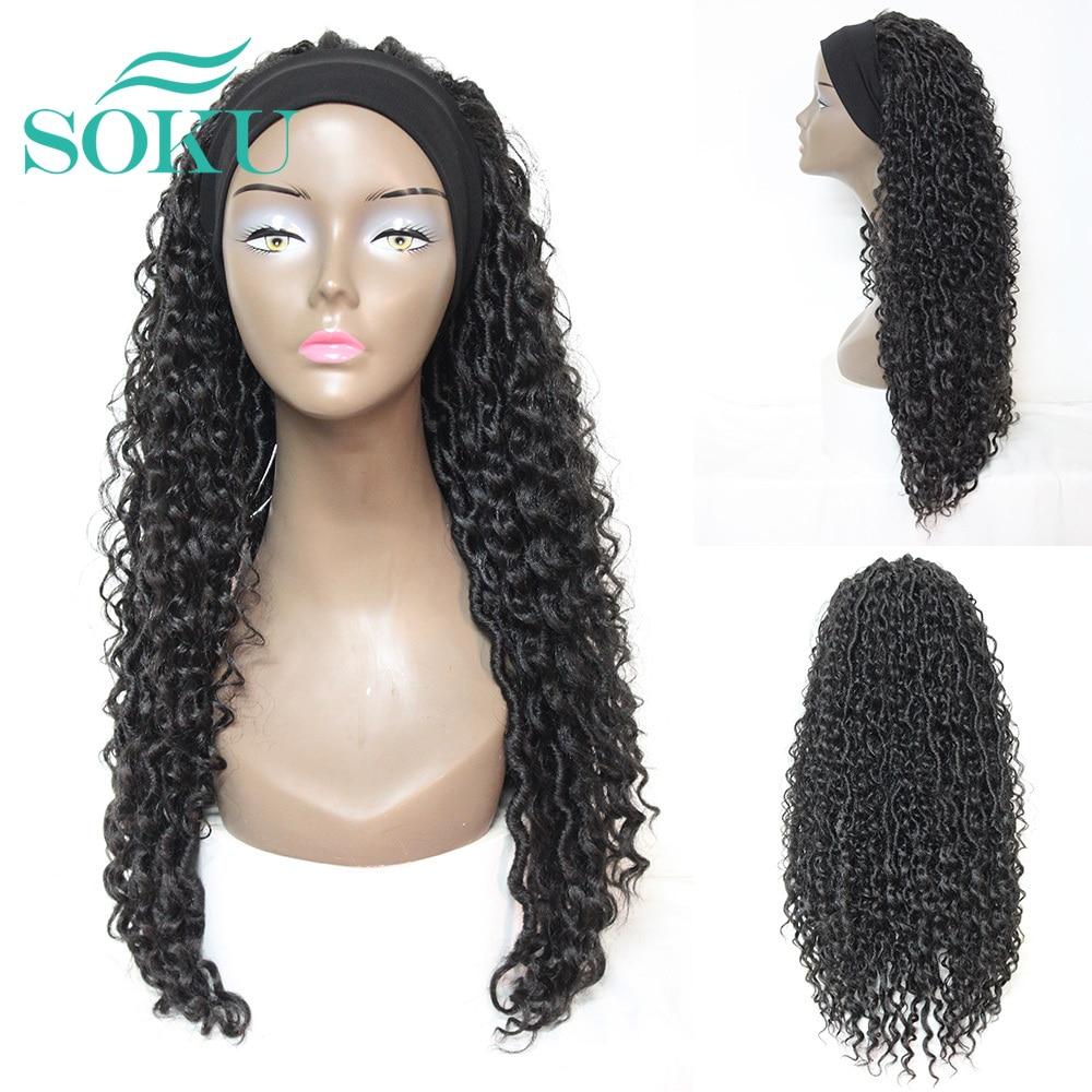 peruca de cabelo de croche peruca de cabelo de croche ombre cor marrom trancado peruca