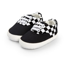 2021 Brand Newborn Baby Shoes Checkerboard Shoes Infant Boy Girl Classical Canvas Cotton Soft-soled