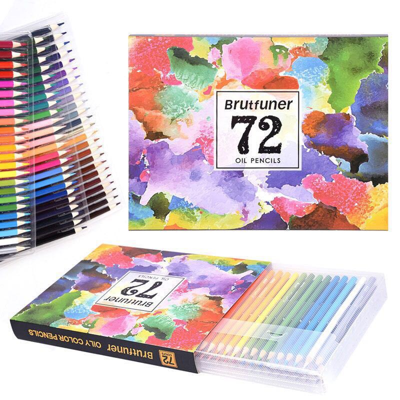 deli wooden colored pencils set soluble pencil for kids drawing pencils sketch artists painting supplies 12 18 24 36 colors box Brutfuner 72 Professional Oil Colored Pencils Set Wooden Pencil for Art School Drawing Sketch Art Supplies