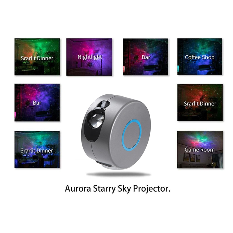 Colored Starry Sky Night Light From The Network Galaxy Projector Smart Star Ceiling Valentine's Day Decoration enlarge