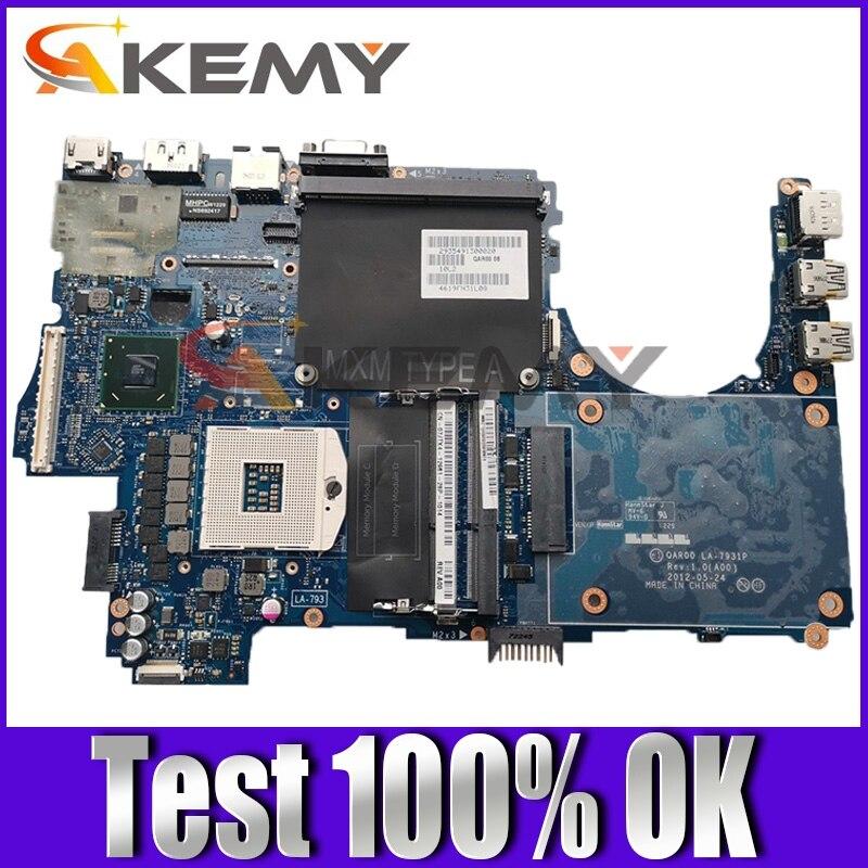 Original Laptop motherboard For DELL Precision M4700 Mainboard CN-035JKV 035JKV LA-7931P SLJ8A DDR3