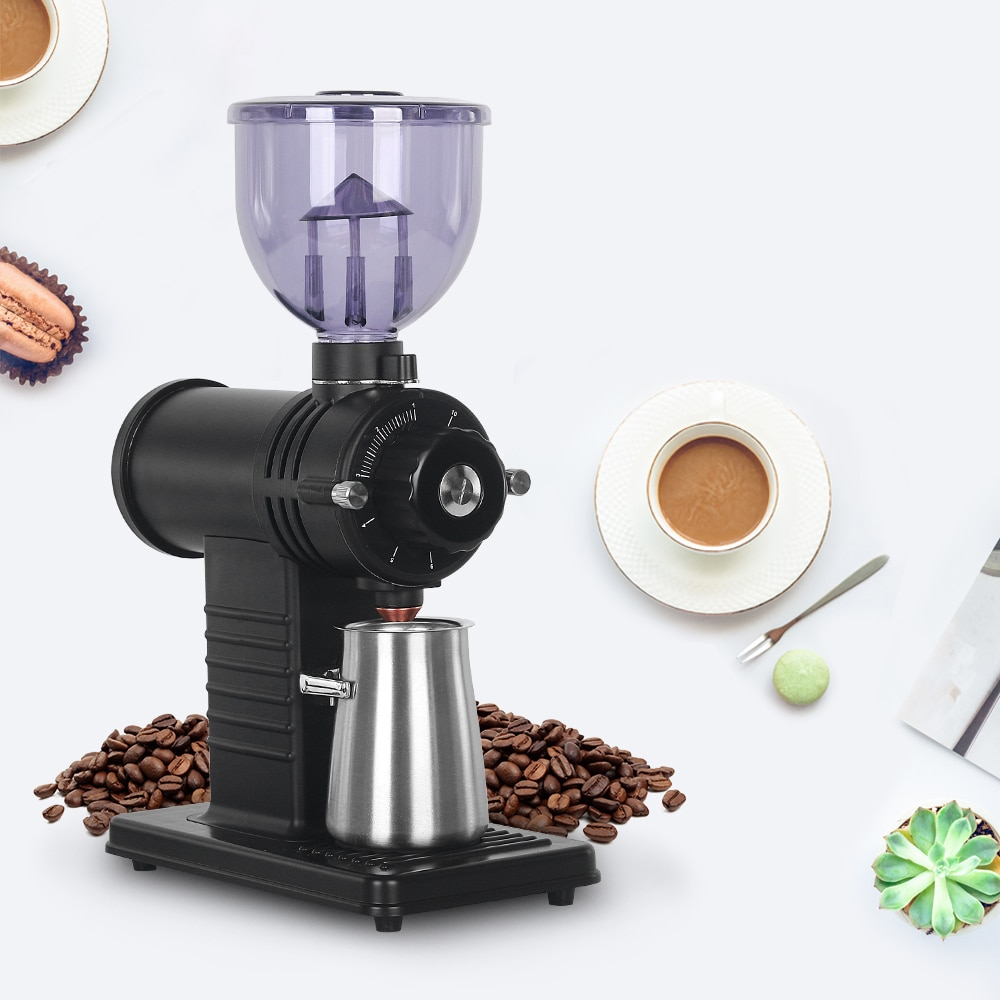 ITOP Electric Italian Coffe Grinder Stainless Steel 200W Coffee Beans Grinding Machine Adjustable Speed Burr Grinders IT-520A0