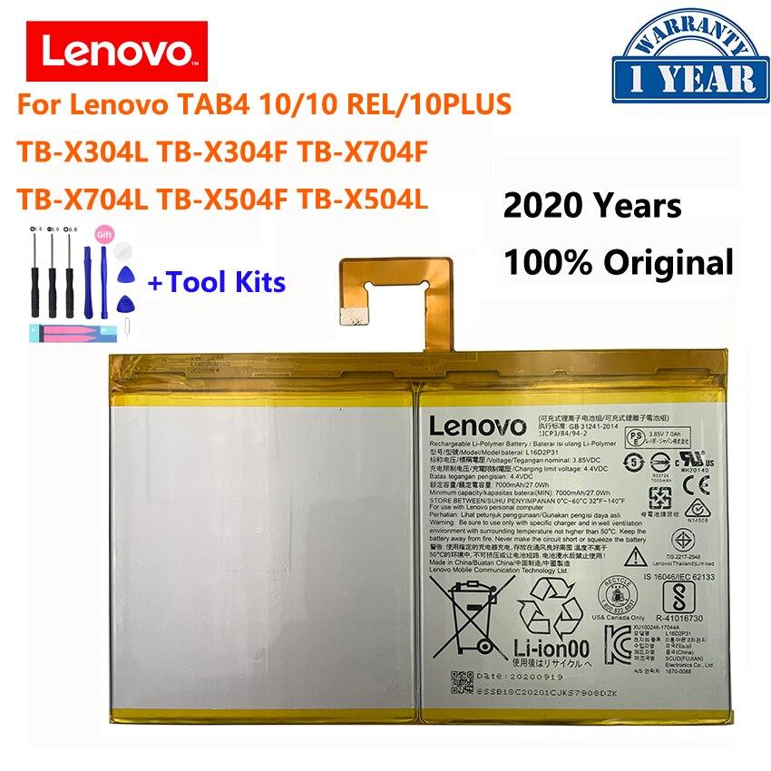 100% Оригинальный L16D2P31 7000 мА/ч, батарея для Lenovo TAB4 10 отн плюс TB-X704F TB-X304L TB X304F X704L X504F X504L Batterij Bateria