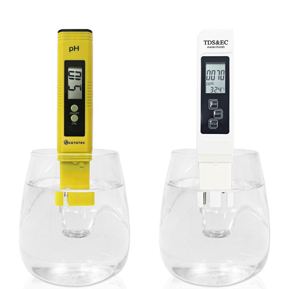 Tragbare Digitale ATC PH Meter Und TDS & EC 0-9999us/cm 0-9999ppm 0.00 ~ 14,00 Aquarium Pool Wasser Wein urin automatische kalibrierung