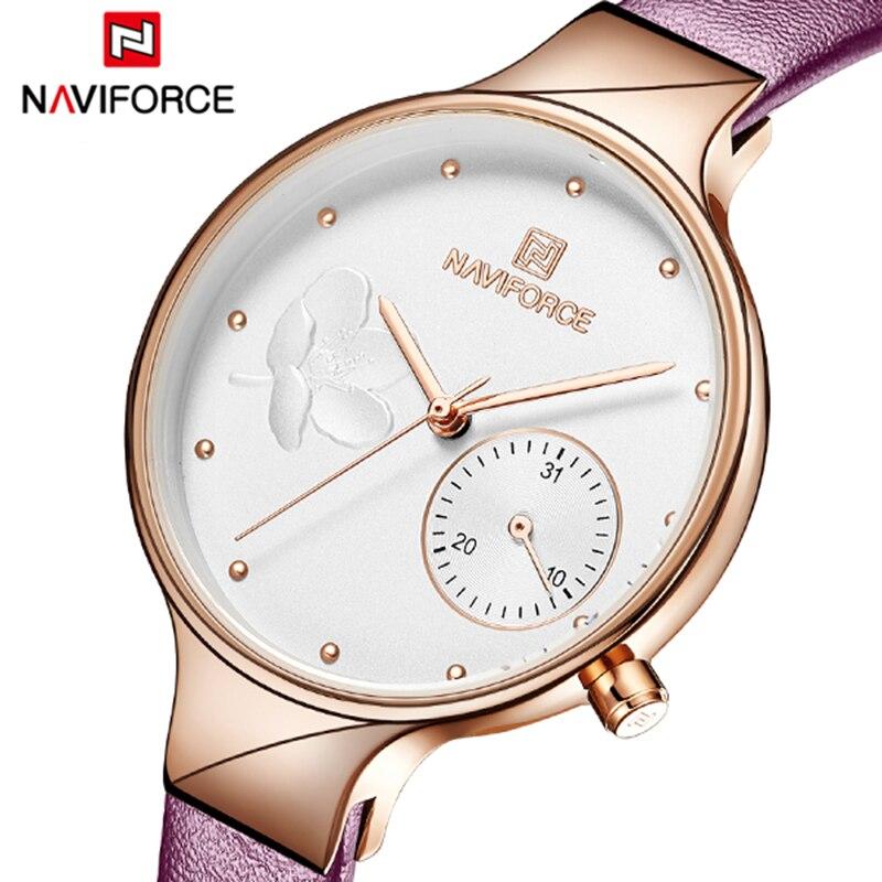 NAVIFORCE 2020 New Twinkly Ladies Watch Top Brand Luxury Women Watch Strap reloj dama lujo donna orologio reloj mujer