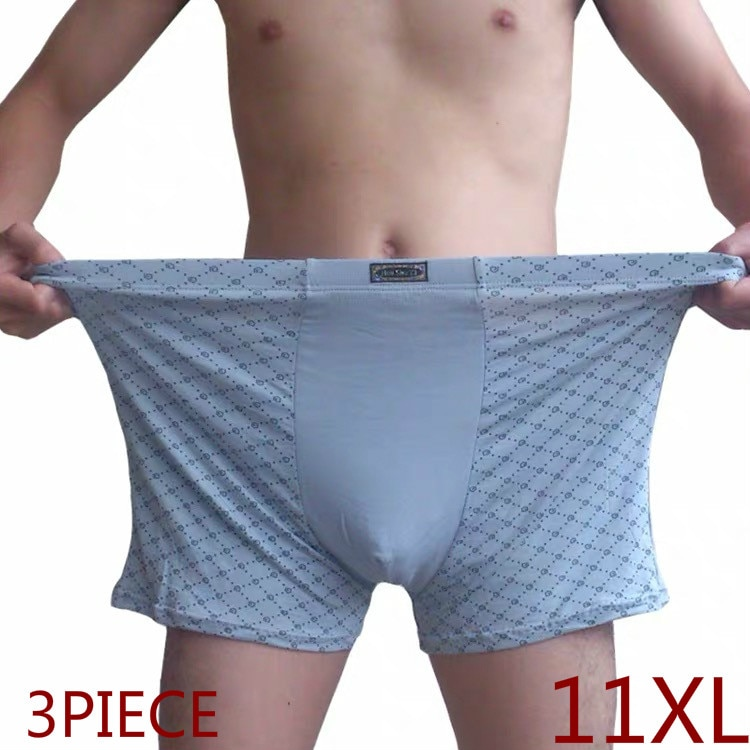 Plus Size Men's Boxer Panties Underpant Lot big size 11XL Loose Under Wear Large Short Cotton Plus 9