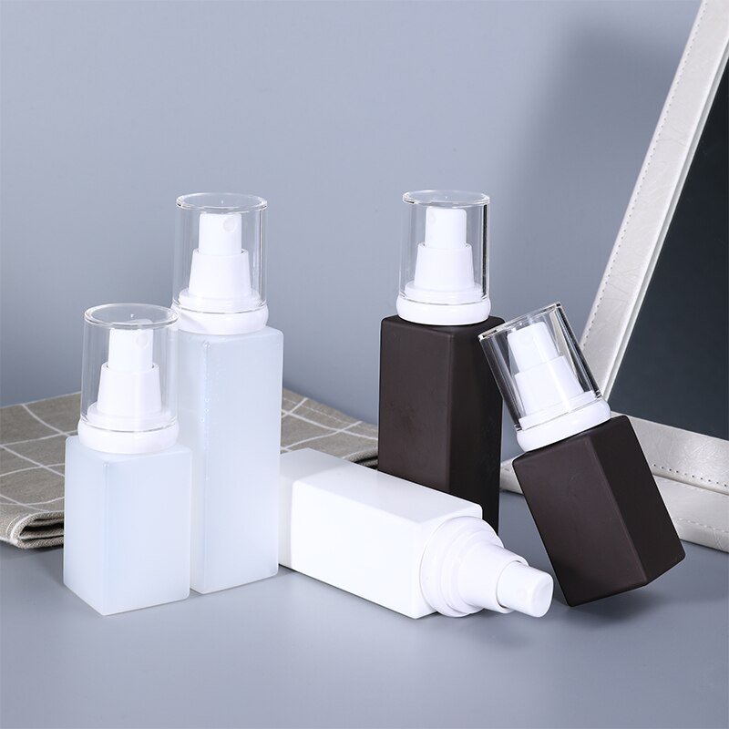 50ML 100ML Vazio Frasco de Spray Líquido Recipientes de garrafas de plástico de viagens Recarregáveis Atomizador Perfume Álcool Disinfecta 2 Pçs/lote