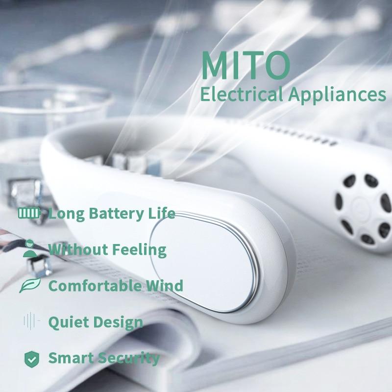 Мини-вентиляторы для шеи, портативные вентиляторы, безлопастные USB перезаряжаемые бесшумные спортивные вентиляторы, портативные охлаждающ...