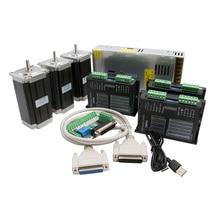 Livraison ue, Kit de routeur 425 3 axes   3 pièces, pilote de moteur stepper DM542 et moteur Nema23 Oz + panneau dinterface DB25 + alimentation
