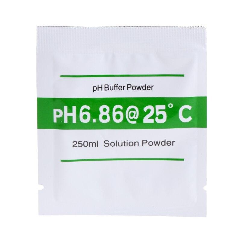 20 Uds. Solución tamponadora de PH en polvo para medidor de prueba Calibración de medida 4,01 6,86 964E