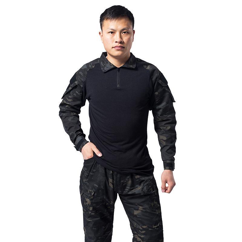 Мужская камуфляжная рубашка в стиле милитари, для охоты и рыбалки
