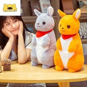 Large Standing Kangaroo Plush Toy Stuffed Animals Plushies Toy Kawaii Plushie Soft Pillow Cushion for Children Christmas Toys