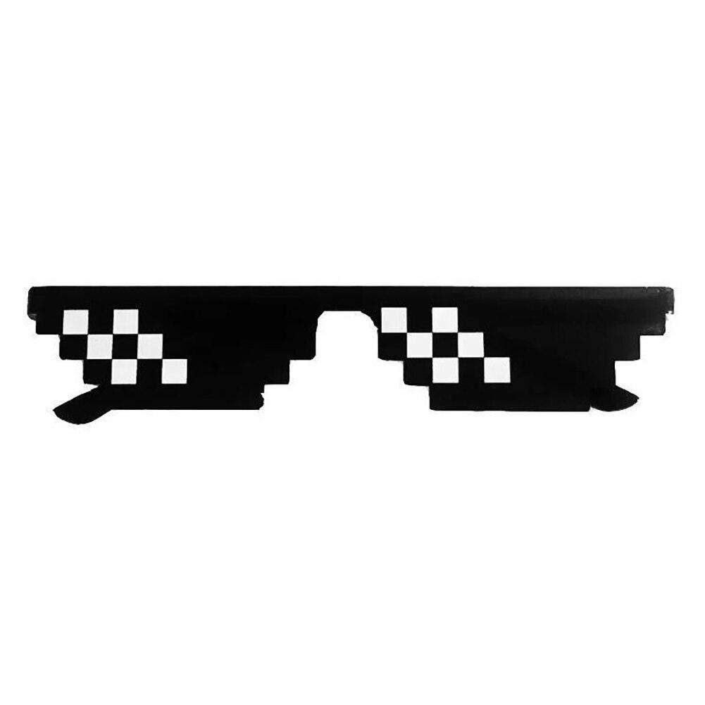 Men Women Brand Party Eyeglasses Mosaic UV400 Vintage Eyewear Unisex Gift Toy Glasses 6/8 Bit Thug L