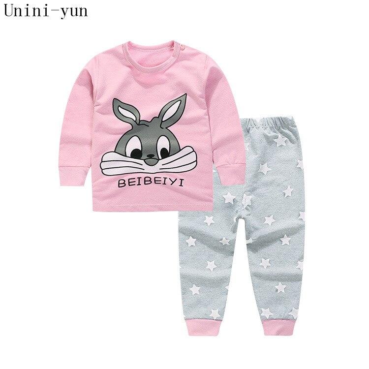 Conjunto de ropa de bebé 100% de algodón de alta calidad, conjunto para niños pequeños, 2 uds estampado de conejo, gran oferta-Rosa, 6t5t4t3t24M12