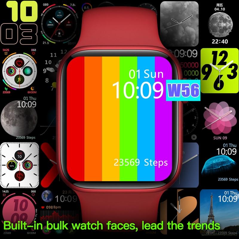 جديد 2021 IWO 13 برو W56 ساعة ذكية 44 مللي متر سلسلة 6 1.75 بوصة عرض شاحن لاسلكي معدل ضربات القلب ECG IP68 مقاوم للماء Smartwatch