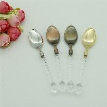 Kryształowy uchwyt mała łyżeczka do kawy cukier herbata deser sztućce zastawa stołowa do kuchni