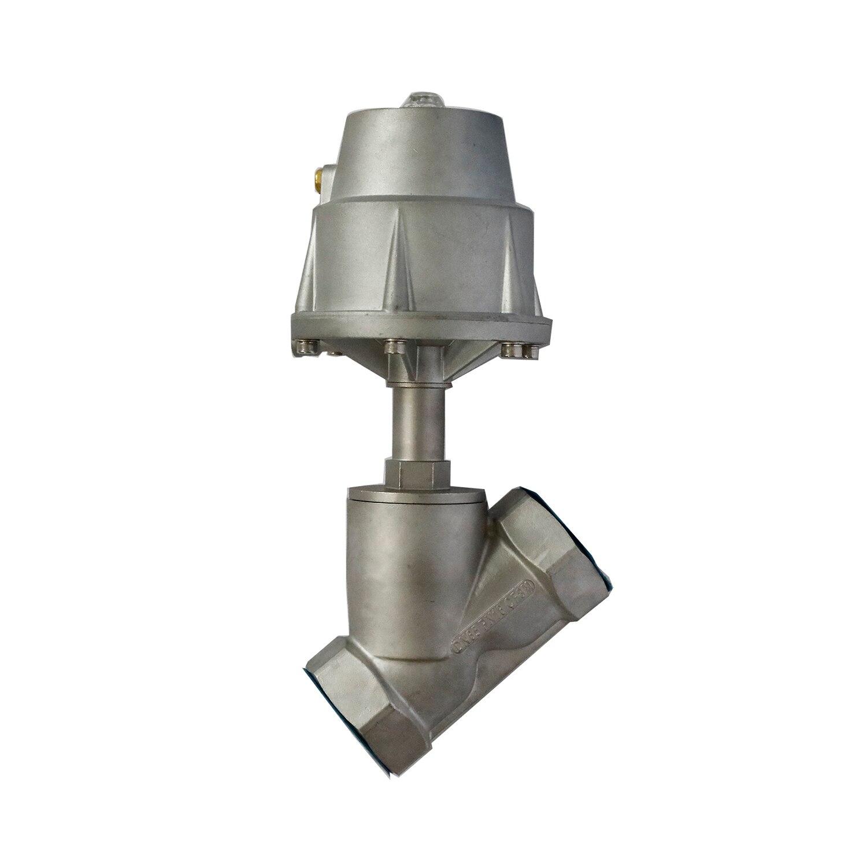 Válvula de asiento en ángulo de vapor de cilindro grande de diámetro grande DN65 para equipos de espuma de Gas de alta temperatura