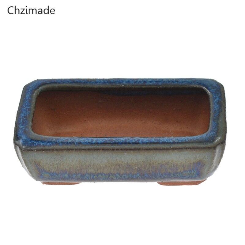 Chzimad 9 видов стилей китайские керамические бонсай цветочные горшки коробки для хранения цветочных растений глазурованный Горшок Кашпо украшение дома