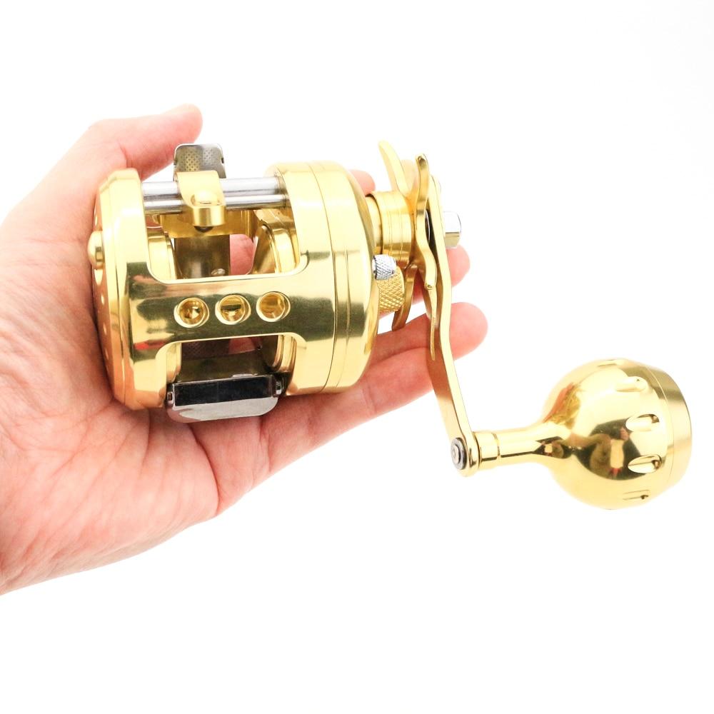 Trolling Metal Slow Jigging reel max drag 13kg Gear Ratio5.1:1 Resistant Corrosion Overhead Saltwater Casting Metal Fishing reel enlarge
