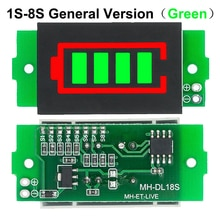 1-8S 1S/2S/3S/4s singolo modulo indicatore di capacità della batteria al litio da 3.7V Display 4.2V Tester di potenza della batteria del veicolo elettrico Li-ion