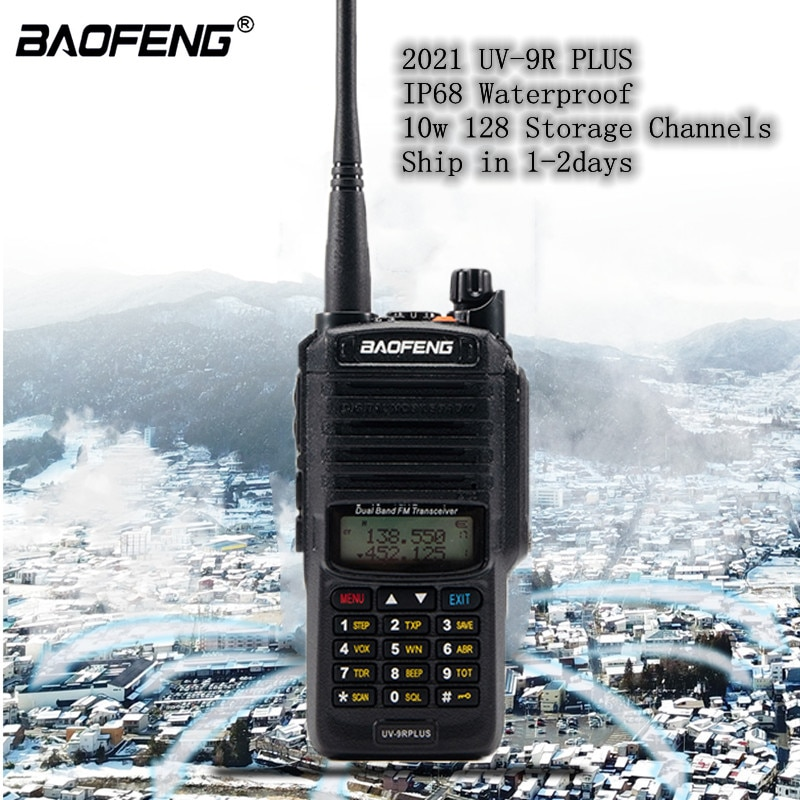 2021 Baofeng UV-9R plus Водонепроницаемая IP68 портативная рация для охоты двухсторонняя Автомобильная радиостанция любительская радиостанция высока...