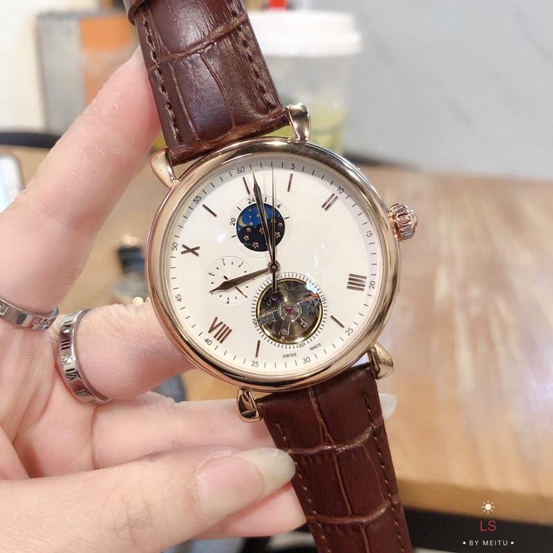 2021 nova patek mecânica masculina e feminina cinto de aço relógio, moda casual philippe marca luxo relógio