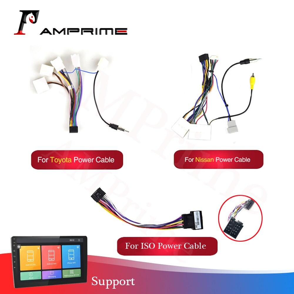 Rádio android acessórios do carro fio cablagem adaptador conector universal cabo para nissian toyota carro