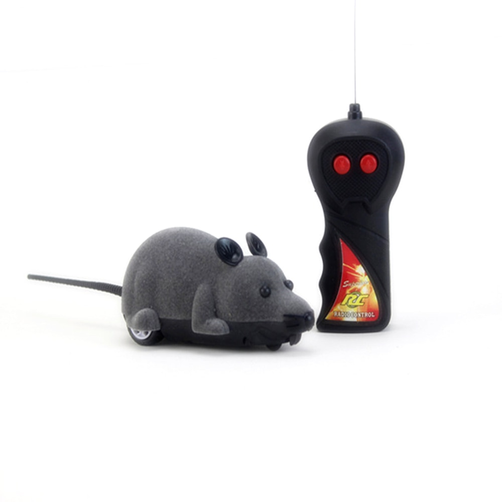Funny things RC robot Animals prank Games Wireless Remote Control Electronic Rat Mouse Mice Toy For Cat Puppy Kids Toy Gifts enlarge