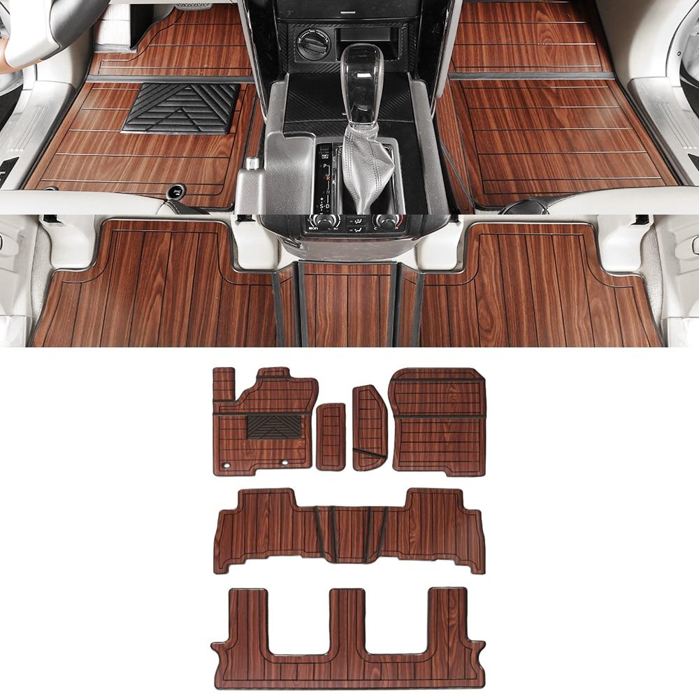 Car Accessories Floor Mats Set for 5 7 Seats Front 2nd 3rd Row Pad Foot Mat Carpets for Toyota Land Cruiser Prado J150 2010-2020