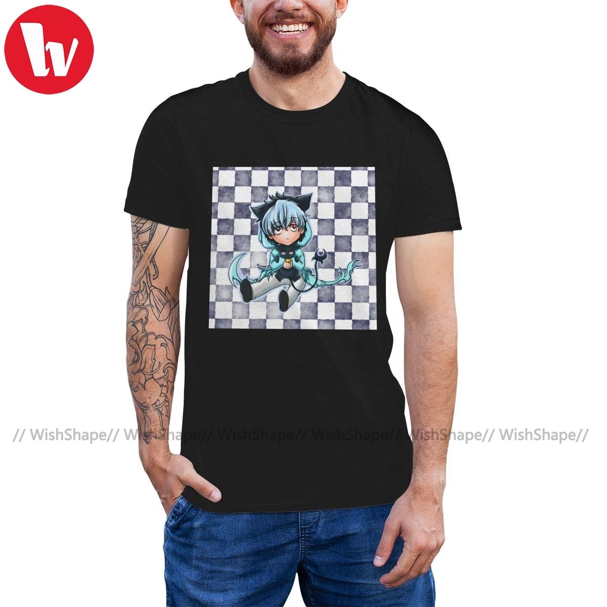 Servamp T camisa Chibi sueño camiseta color ceniza de los hombres impresa Camiseta de manga corta 100 algodón impresionante camiseta