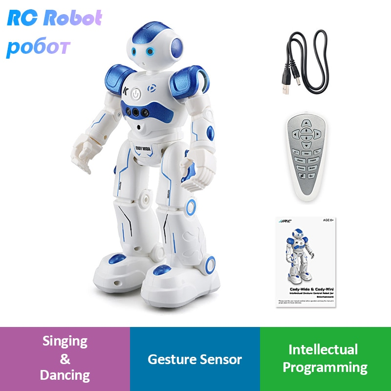 LEORY RC Robot Intelligent Programming Remote Control Robotica Toy Biped Humanoid Robot For Children
