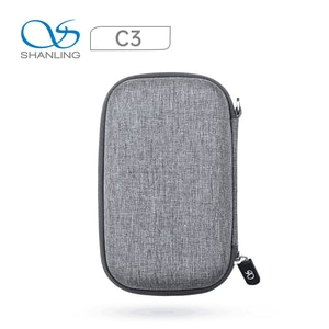 SHANLING C3 Cloth storage Box Large space For M0/M1/M5S player Earphones Portable Pressure Box zipper storage Bag with mesh bag