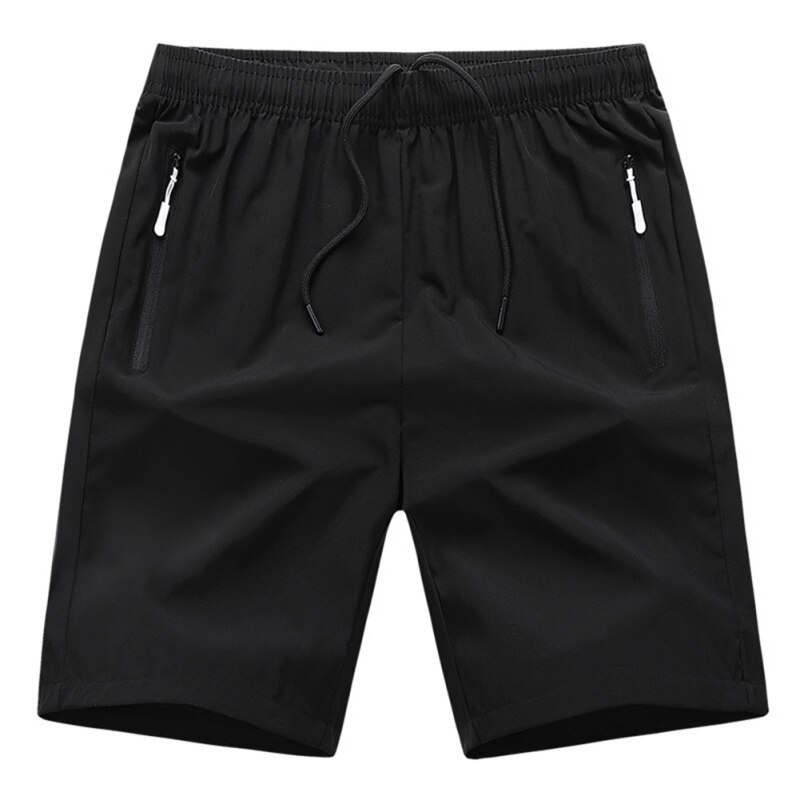 Summer Ice Silk Shorts Men Thin Sports Casual Five Pants Section Loose Large Size Beach for