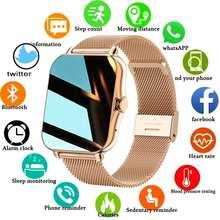 ROLLSTIMI 2021 Новый смарт-часы для мужчин и женщин вызовов через Bluetooth фитнес трекер женские умные часы монитор сердечного ритма во время сна часы...