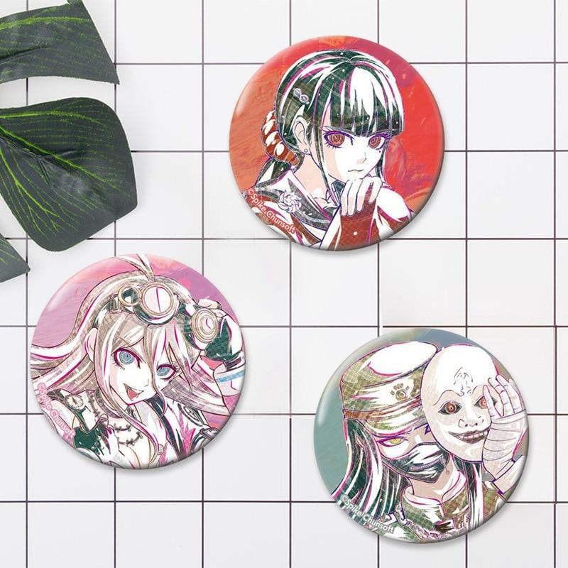 Sayaka Maizono Anime Makoto Naegi Danganronpa Monokuma Kirigiri Kyouko Emblemas Broche Ícones Cosplay Roupas Crachá Dom Botão