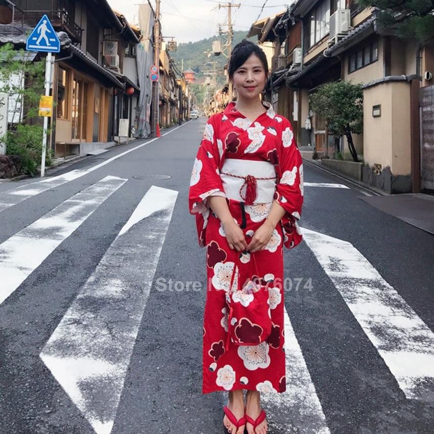 Floral tradicional japonês kimono vestido para feminino conforto macio sleepwear com decote em v sexy robe feminino oriental yukata pijamas