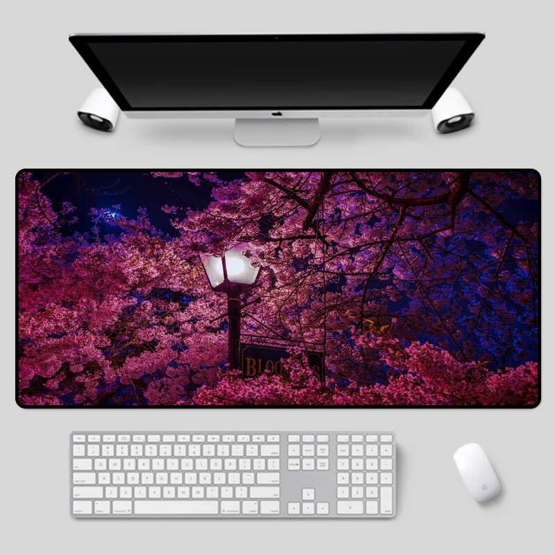 Alfombrilla de ratón XGZ con hermosas flores como hermosa alfombrilla para mesa de cerezo en flor para juegos en casa u oficina alfombrilla para teclado de alta velocidad