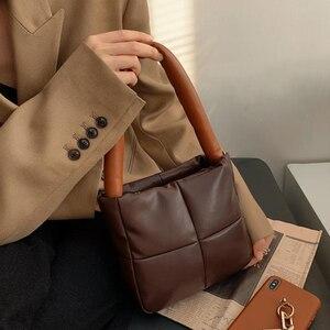 Vintage Soft Space Cotton Luxury Baguette Bag for Women 2021 New Lingge Shoulder Bags Fashion Designer Mini Flap Purses Handbags
