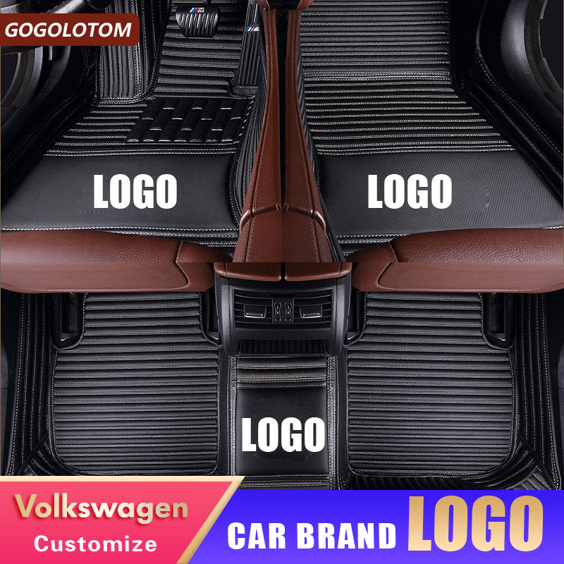 Alfombrillas personalizadas para coche VW Volkswagen Passat B5 B6 Golf 6 7 Touran Tiguan Jetta Touran, alfombrillas para coche 2006-2018
