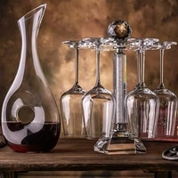 goblet red wine glass set home crystal glass cup holder luxury wine set wine pot decanter european high end flask