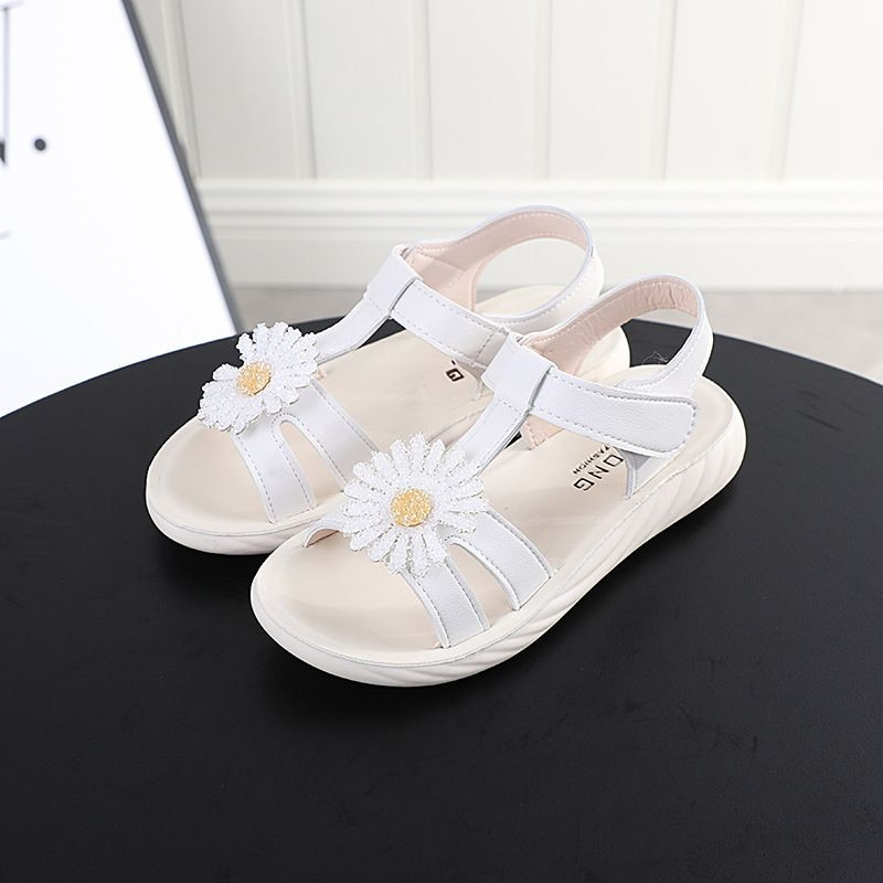 2020 new summer girls princess shoes Flat Heel sandals Female  Princess Baby Sandals Teenage Flower Fashion