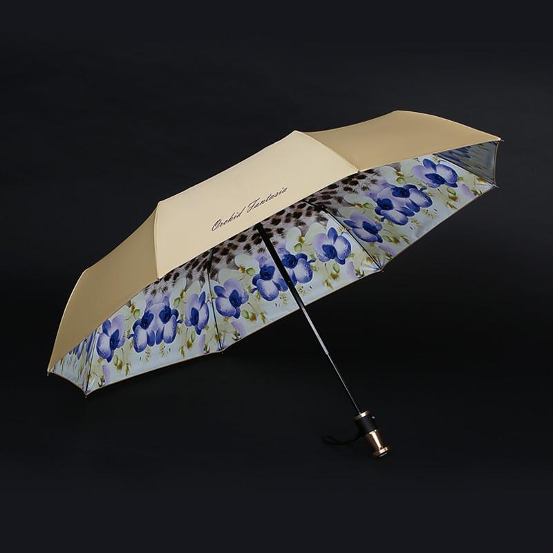 Women Automatic Umbrella Luxury Female Beautiful Windproof Strong Large Umbrella Outdoor Women Parasol Umbella Rain Gear AE50YS enlarge