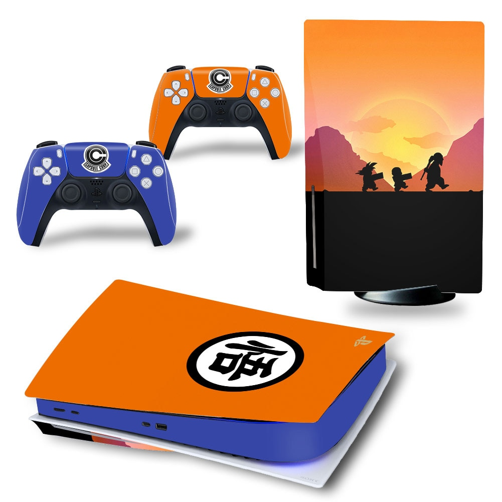Anime PS5 Standard Disc Edition Skin Sticker Decal Cover for PlayStation 5 Console and 2 Controllers PS5 Skin Sticker Vinyl