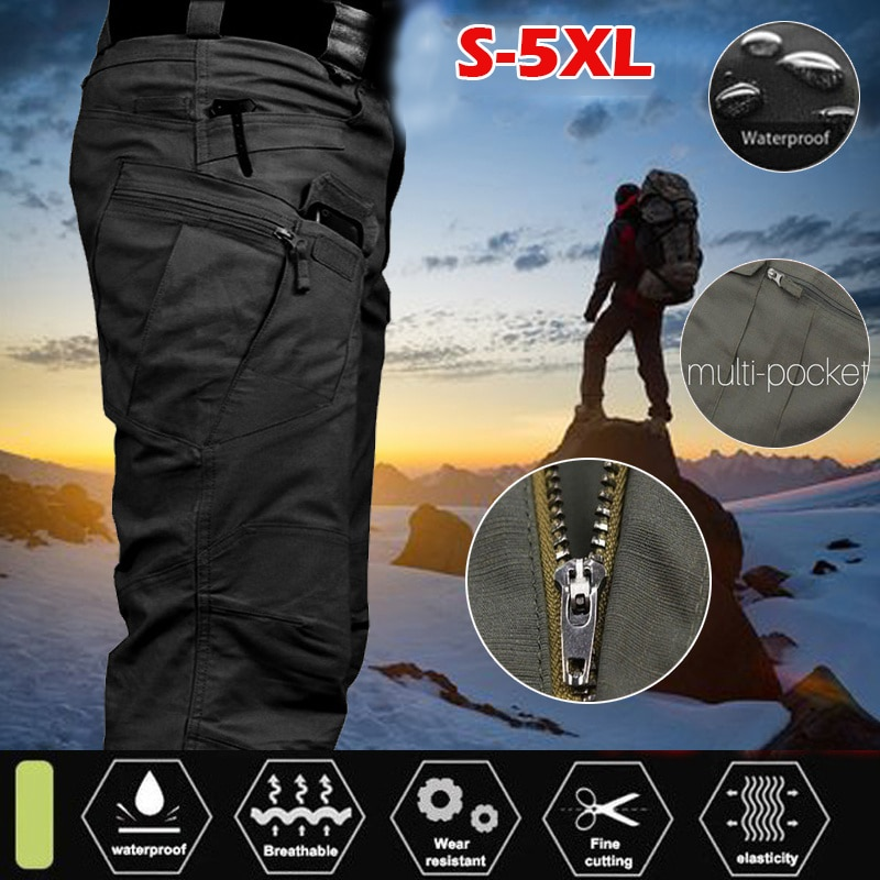 Cargo Pants For Men Tactical Multi Pocket Classic Breathable Quick Dry Military Trousers Male Slim Fit Casual Pants