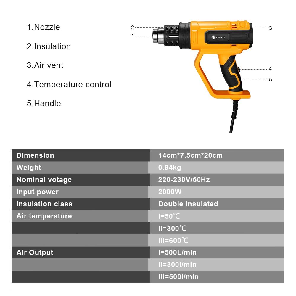 Pistola termica elettrica con regolazione della temperatura avanzata - Utensili elettrici - Fotografia 2